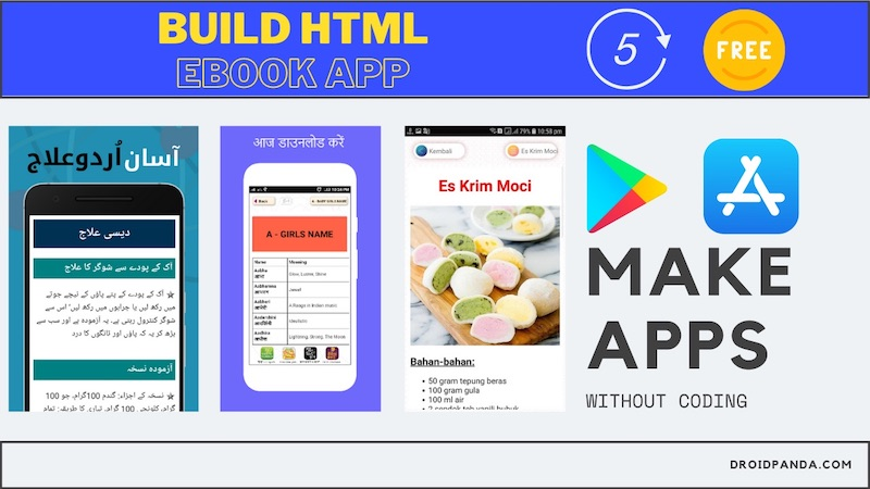 Make any html ebook app
