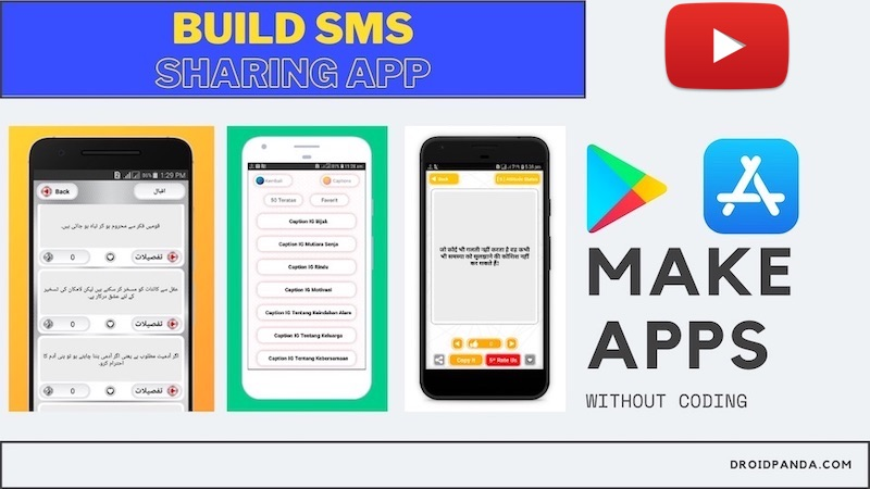 SMS or Quotes sharing app maker