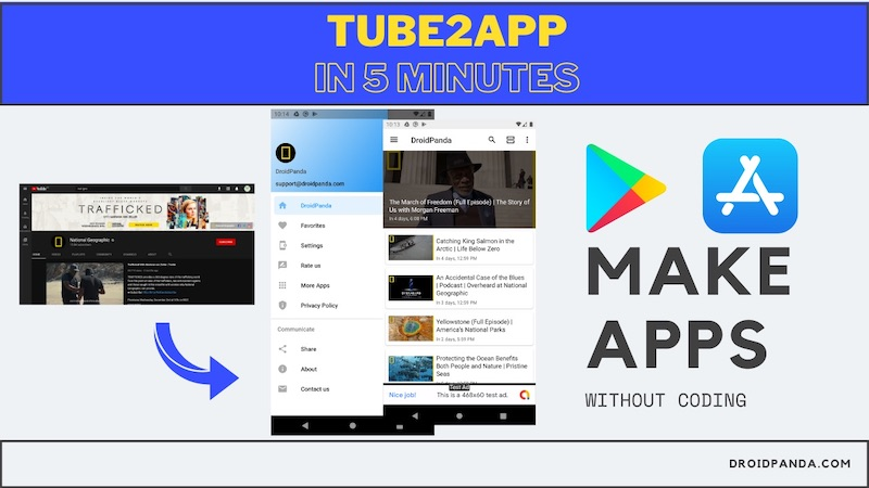 Convert your youtube channel to android app